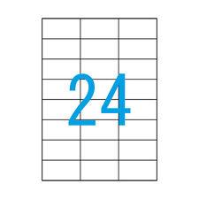 100 Blatt A4 Luma Etiketten 70x37 mm Klebepapier weiss 70 x 37 2400 Stück