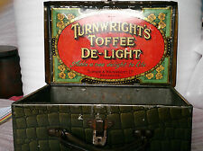 Turner Wainwright Toffee delight tin Crocodile print brief case shaped tin