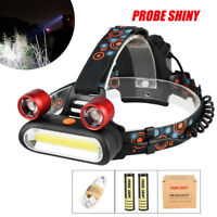 15000LM 2x T6 LED +COB USB Rechargeable 18650 Headlamp Head Light Torch Kits UK