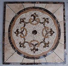 "32""x32"" Floor MarbleTravertineTile Medallion Design Stone  #70"