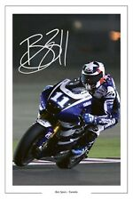 BEN SPIES YAMAHA SIGNED PHOTO PRINT AUTOGRAPH