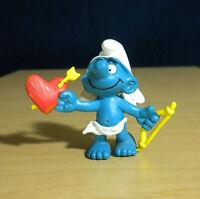 Smurfs 20128 Amour Cupid Smurf Valentine Figure Vintage Toy PVC Cherub Figurine
