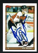 Ken Wregget #136 signed autograph auto 1991-92 Topps Hockey Trading Card