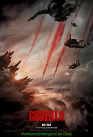 6 GODZILLA MOVIE POSTER'S 2014 Adv & 2000 Final & 1998 Adv & Final & Video &C.P.