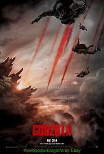 6 GODZILLA MOVIE POSTER'S 2014 Adv & 2000 Final & 1998 Adv & Final & Video &C.P.