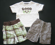 Gymboree Boys dog gone handsome celebrate spring plaid shorts top shirt 6-12 m