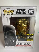 Funko Pop! Star Wars #157 Darth Vader (2019 Galactic Convention Excl. Gld Chrme)