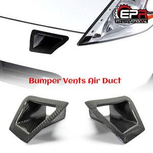 Front Bumper Vents Duct Kits For Nissan 370z z34 Carbon Fiber Body Kits
