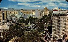 Méjico méxico color Postcard ~ 1960/70 vista parcial con Hotel Plaza Vista Hermosa