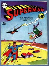 SUPERMAN COMICS #10 Superman 1941 5th app Lex Luthor & 1st Bald Luthor