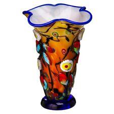Glasvase James Art Glass schwere Tischvase 4 kg im Murano Stil Designvase Vase