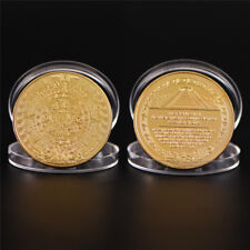 Maya Bitcoin Commemorative Bit Coin Art Collection Physical Plated Coin Gift BBF