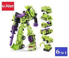 Transformers Constructicons / Devastator G1 Style Toy Set 6 In 1 (Green Scheme)