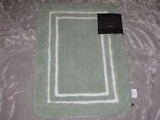 Green White Bath Rug Super Soft Absorbent Microfiber Nonskid Bathroom NEW!
