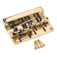 4 String Bass Bridge for Fender Precision Jazz Bass Brass Saddles Top Load