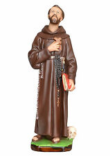 Saint Francis of Assisi resin statue cm. 42