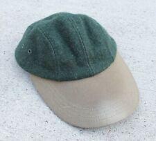 Vtg Green Wool Tincloth Brim CC Filson Co 4 Panel Fitted Hat Baseball Cap Small