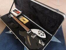 Rickenbacker 360 Jetglo Black 6-string Electric Guitar Hard Case MINT & Unplayed