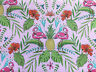 HALF METRE PINK FLAMINGOS FLOCK TO THE OASIS QUILTING FABRIC BY MICHAEL MILLER