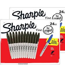 SHARPIE Marcatore Permanente Fine Point Penne Nere Confezione 24 Set di 2