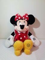 "MINNIE MOUSE Large 20"" Plush Toy doll polka dot Disney Store"