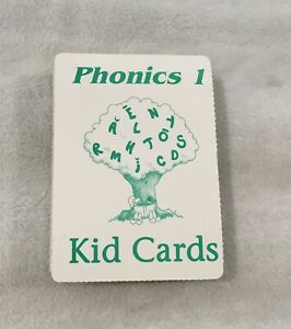SAXON PHONICS / SET OF 54 KID CARDS / PHONICS 1 / GREEN CARDS