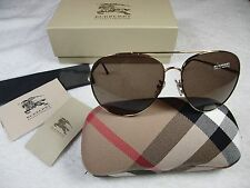 Burberry Sunglasses BE3051 100273 Pale Gold, Brown Gradient Lenses New !!