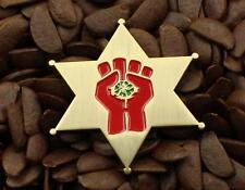 Hunter S Thompson Fear & Loathing Sheriff Badge Gonzo Chrome Bronze