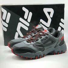 Fila Men's Reminder Athletic Running Hiking Shoes Grey Black Red