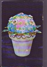 Art Flower Pot Fleur Allure Hideaway Posies Crafts Old Vintage Postcard
