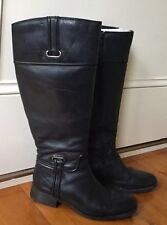 Ladies Sandler  Black Leather Knee High Boots Size 6B