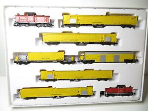 245N - Minitrix 11444 - Set Tunnelrettungszug mit 2x Diesellok - top in OVP