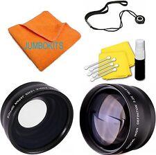 52MM Wide Angle Macro Lens + Telephoto Zoom for Nikon D5100 D3200 D3100 D90 D80