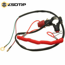 7/8inch 22mm Motorcycle ATV Quad Engine Emergency Kill Switch Tether