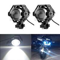 2x Motorrad ATV licht U5 125W 3000LM LED Scheinwerfer Zusatzscheinwerfer Lampe