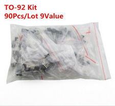 90Pcs 9 VALUES S8050 S8550 S9012 S9013 Transistor Triode Assorted Kit TO-92
