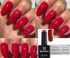 BLUESKY GEL POLISH RED WILDFIRE RED BEAM NAIL UV LED SOAK OFF,ANY 2 =FILE +WIPES