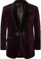 Men Burgundy Smoking Jackets Designer Dinner Party Wear Blazers Coat