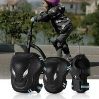 6 Pcs Roller Skate Cycling Knee Pads Elbow Pads Wrist Guards Protective Gear Set