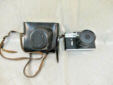 Zenit-E Camera and Leather Case USSR Vintage Camera 35mm Film Pristine Condition
