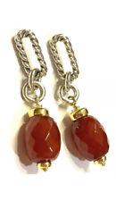 David Yurman Sterling Silver & 18K Gold Carnelian Drop Earrings