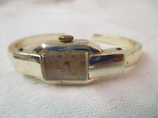 Vintage Wrist Watch Anker 17 Rubis Boden Edelstahl Cuff Bracelet runs