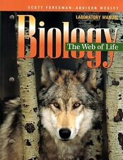 SCOTT FORESMAN 10th Grade 10 The Web Life Biology SCIENCE LAB MANUAL Homeschool
