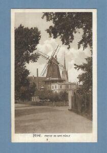 1927 POSTCARD - PEINE GERMANY - WINDMILL - PARTIE AN DER MUHLE - GEORG KUGELMANN