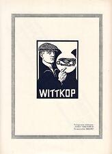 Wittkop Bielefeld WIKO  Fahrradsattel Orig Reklame 1925 Fahrrad Sattel Leder