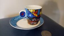 "BRITTO ESPRESSO CUP AND SAUCER SET ( LIGHT BLUE IN COLOUR ) ""HEART """