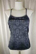 ATHLETA XS Harmonious floral workout tank top gray ombre paisley sleveless cami