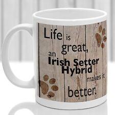Irish Setter Hybride chien mug Setter Irlandais Chien Cadeau, Idéal Cadeau Pour Dog Amant