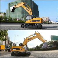 HUINA 1550 1:14 15CH Alloy Remote Control Excavator RC Engineering Car Toy