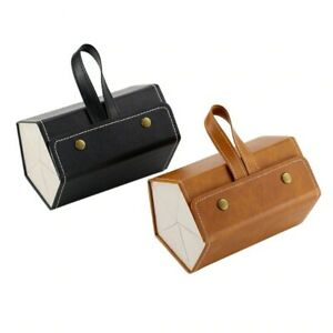 Leather Multiple Glasses Storage Case - 6 PAIRES